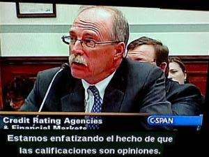Stephen Joynt, Consejero Delegado del Grupo Fitch. declarando ante el Congreso de EE.UU.